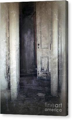 Ghost Girl In Hall Canvas Print by Jill Battaglia