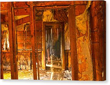 Ghost In Old Building Canvas Print
