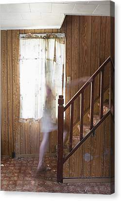 Ghost On The Stairs Thunder Bay Ontario Canvas Print by Susan Dykstra