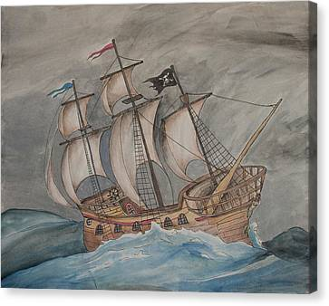 Ghost Pirate Ship Canvas Print