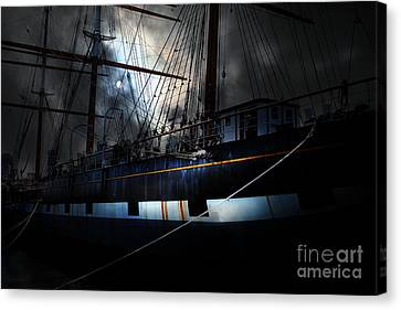 Ghost Ship Of The San Francisco Bay . 7d14153 Canvas Print by Wingsdomain Art and Photography