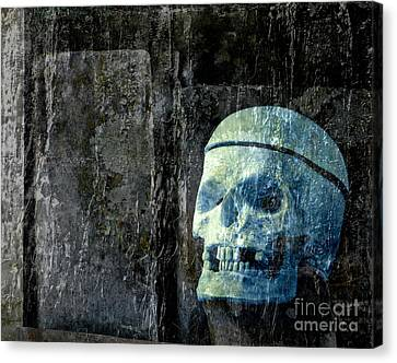 Ghost Skull Canvas Print by Edward Fielding
