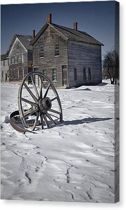 Ghost Town At Fayette Canvas Print by Randall Nyhof