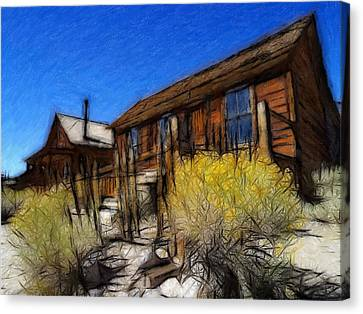 Ghost Town Bodie Pastel Canvas Print by Steve K
