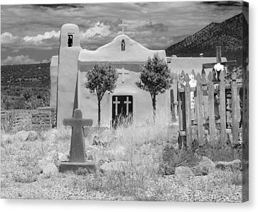 Ghost Town Church Canvas Print by Sonja Quintero