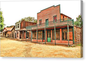 Ghost Town In The Mountain Canvas Print by Jason Abando