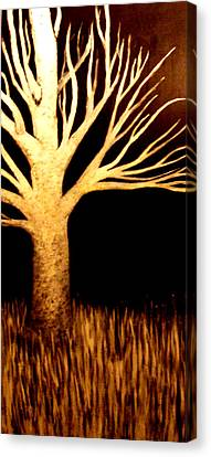 Canvas Print featuring the painting Ghost Tree by Monica Furlow