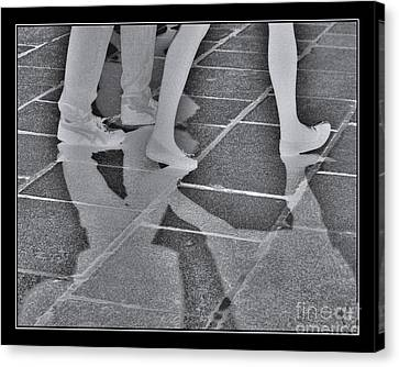 Canvas Print featuring the digital art Ghost Walkers by Victoria Harrington