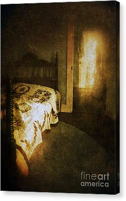 Ghostly Figure In Hallway Canvas Print by Jill Battaglia