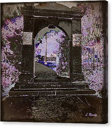 Ghostly Garden Canvas Print by Leslie Revels Andrews