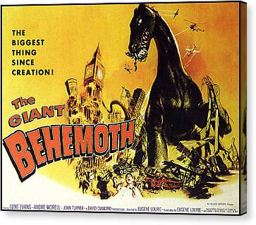Horror Car Canvas Print - Giant Behemoth, The, 1959 by Everett