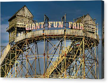 Roller Coaster Canvas Print - Giant Fun Fair by Adrian Evans