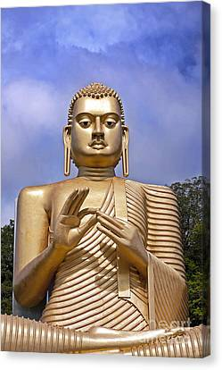 Giant Gold Bhudda Canvas Print