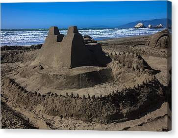 Giant Sand Castle Canvas Print