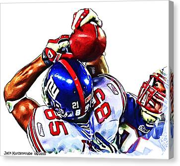 Giants David Tyree Canvas Print by Jack K