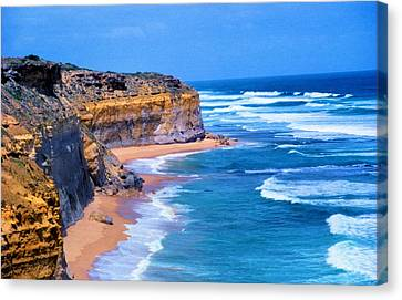 Canvas Print featuring the photograph Gibson's Beach In Australia by Dennis Lundell