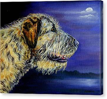 Gideon's Moon - Irish Wolfhound Canvas Print