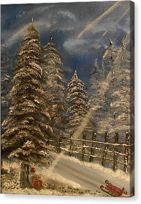 Gift For Santa Canvas Print by Mary DeLawder