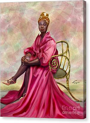 Gifted And Black-no Longer Looking Back Canvas Print by Reggie Duffie