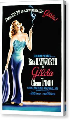 Gilda, Rita Hayworth Poster Art, 1946 Canvas Print by Everett