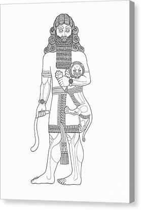 Gilgamesh, King Of Uruk Canvas Print