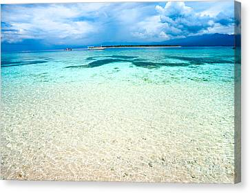 Canvas Print featuring the photograph Gili Meno - Indonesia. by Luciano Mortula