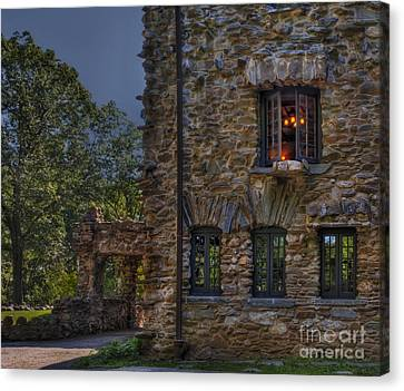 Woodcarving Canvas Print - Gillette Castle Exterior Hdr by Susan Candelario