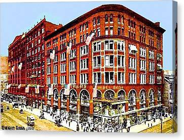 Gimbel Bros. Department Store In Philadelphia Pa 1910 Canvas Print