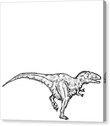 Gimpusaurus - Dinosaur Canvas Print by Karl Addison