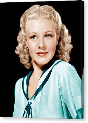 Ginger Rogers In Rko Publicity Canvas Print by Everett