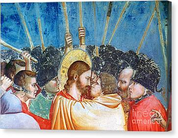 Giotto: Betrayal Of Christ Canvas Print by Granger