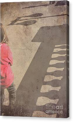 Girl And Shadows Canvas Print