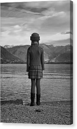 Girl At A Lake Canvas Print by Joana Kruse