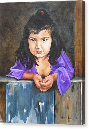 Canvas Print featuring the painting Girl From San Luis by Lori Brackett
