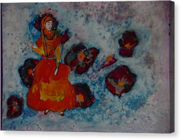 Girl From Shiraz Canvas Print by Sima Amid Wewetzer