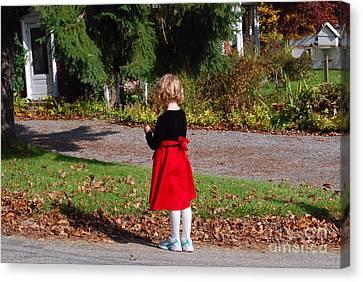 Girl Going Home Canvas Print by Andrea Simon