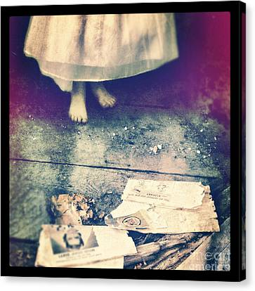 Girl In Abandoned Room Canvas Print by Jill Battaglia