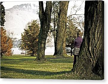 Girl In Autumn Canvas Print by Joana Kruse