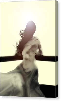 Girl In White Dress Canvas Print by Joana Kruse
