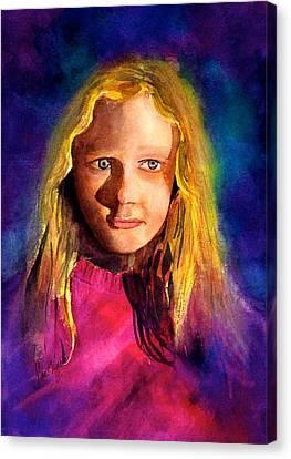 Girl On The Cover Canvas Print by Frank SantAgata