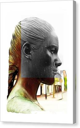Girl Statue Canvas Print by Steve K