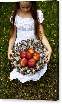 Apple Canvas Print - Girl With Apples by Joana Kruse