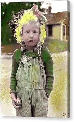 Girl With The Golden Blonde Hair Canvas Print by Charles Shoup