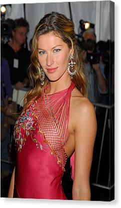 Gisele Bundchen Wearing Dior Haute Canvas Print