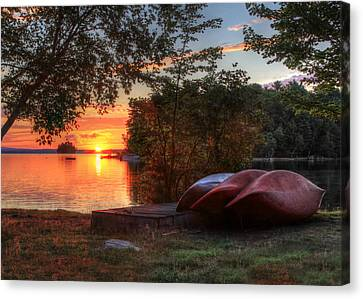 Give Me A Canoe Canvas Print by Lori Deiter