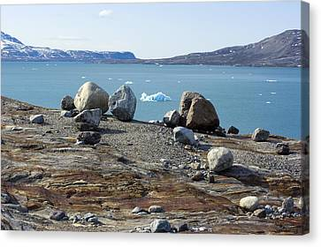 Glacial Erratics And Fjord Canvas Print by Dr Juerg Alean