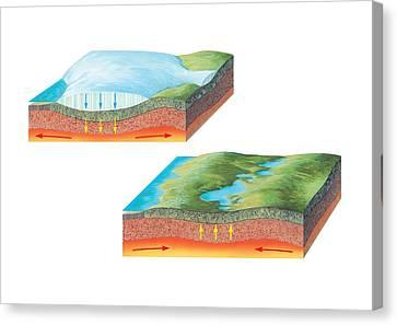 Glacial Rebound, Artwork Canvas Print by Gary Hincks