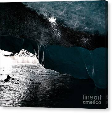 Glacier - Iceland Canvas Print by Louise Fahy