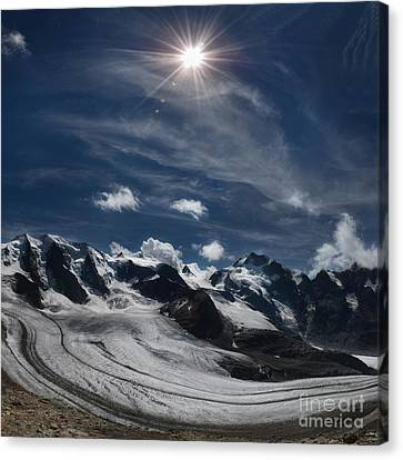Glacier In Heaven Canvas Print by Bruno Santoro