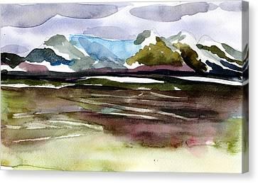 Glacier Near Juneau Canvas Print by Mindy Newman